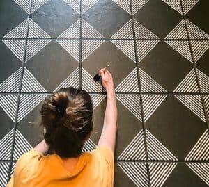 Stencil-Tile-Paint