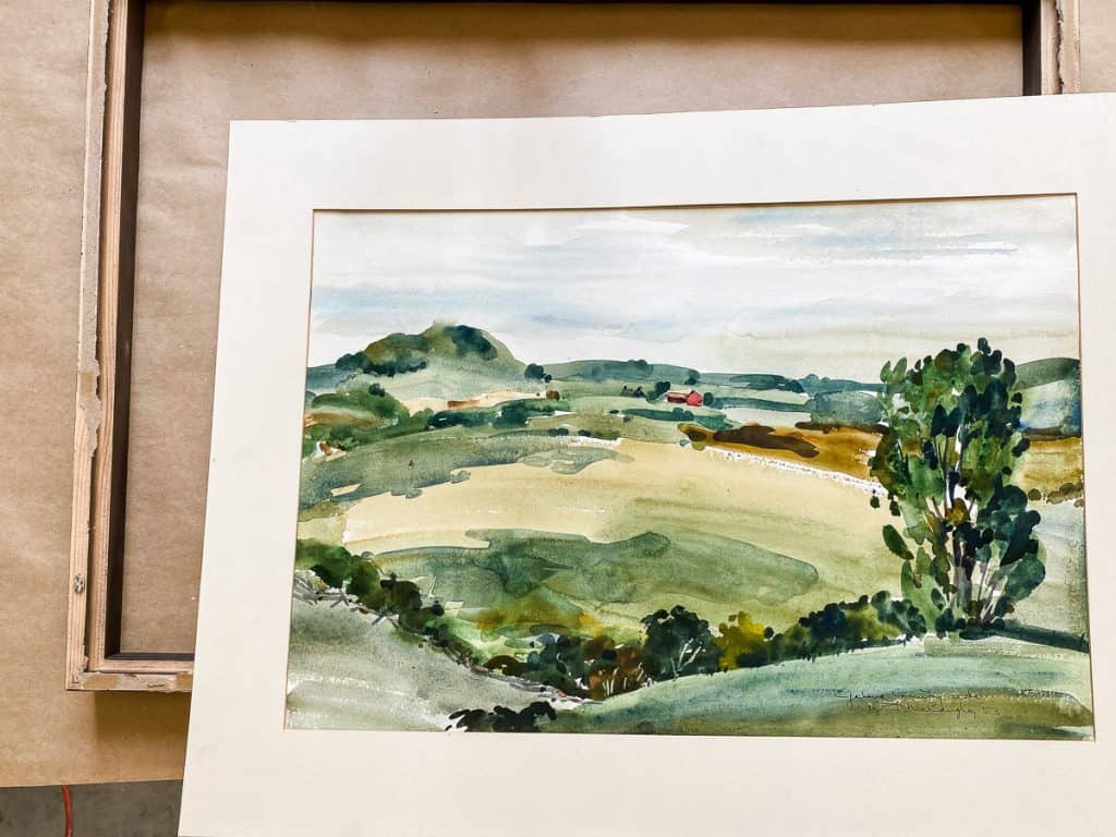 Watercolor for new frame
